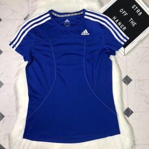 adidas activewear running short sleeve tee size M